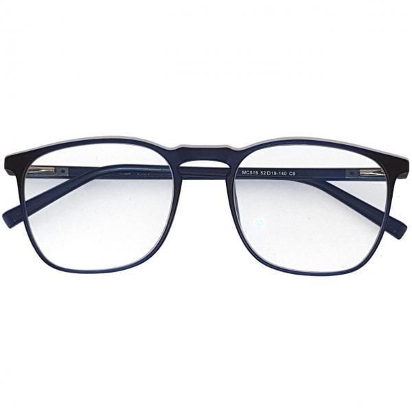 Square Deep Blue Plus PC Glasses Blue Filtering