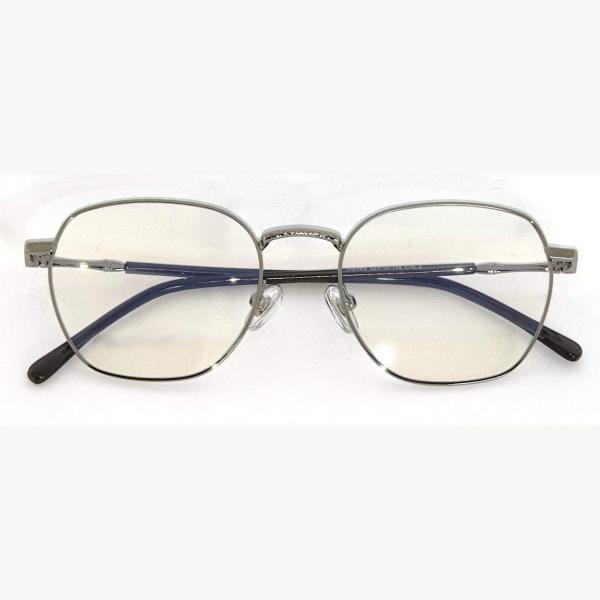 Brooklyn Silver Blue Blocking EyeGlasses - Occihali Blue Block
