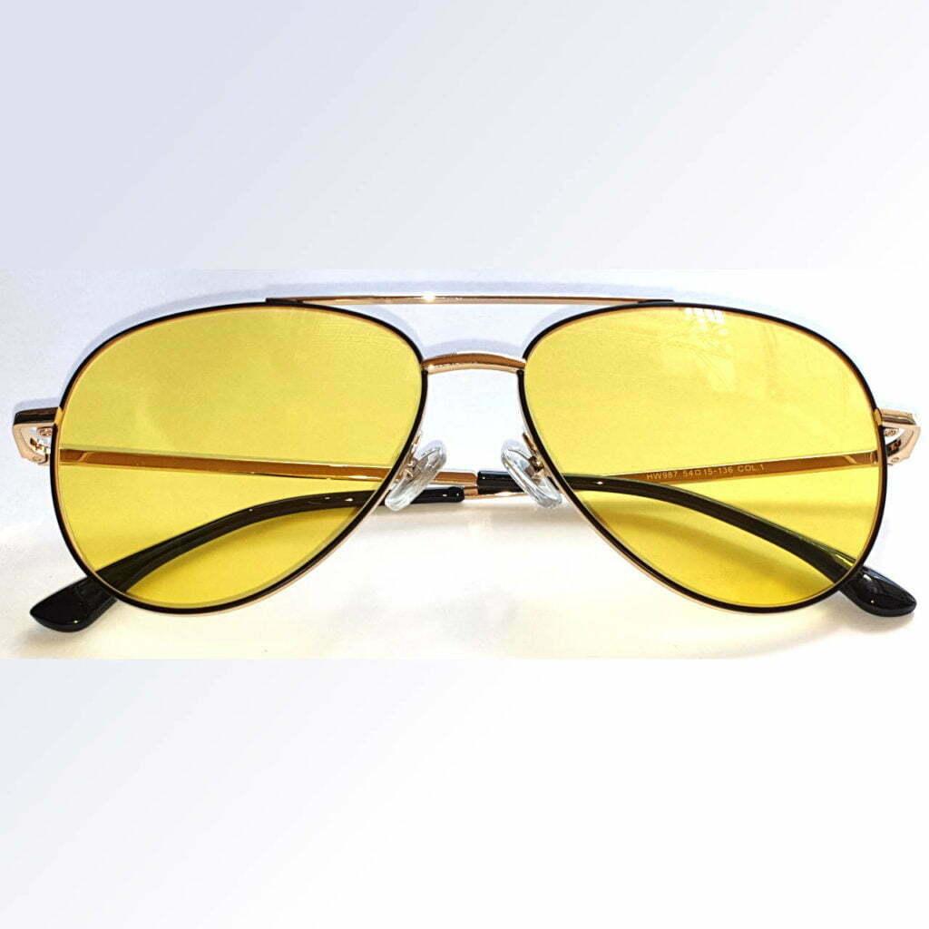 Manhattan Gold Blue Blocking EyeGlasses - Occihali Blue Block Lenti Gialle