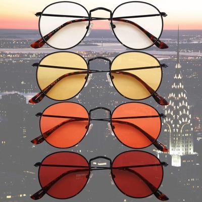 Chrysler Blue Blocking EyeGlasses con lenti Trasparenti, Gialle, Arancioni e Rosse