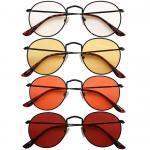 Chrysler Blue Blocking EyeGlasses con lenti Trasparenti, Gialle, Arancioni e Rosse – no Sfondo