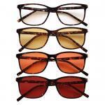 Rockefeller Blue Blocking EyeGlasses lenti Trasparenti, Gialle, Arancioni e Rosse – no Sfondo