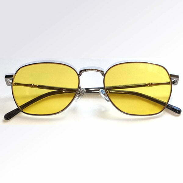 Brooklin Silver Blue Blocking EyeGlasses - Occihali Blue Block Lenti Gialle